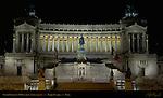 Victor Emmanuel II Monument at night Piazza Venezia Rome