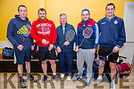 Padraig Hanrahan, Colm Griffin, John Foley, Padraig Moriarty, Ivan Lucid  Ballyheigue Badminton Tournament at the Community Hall on Sunday