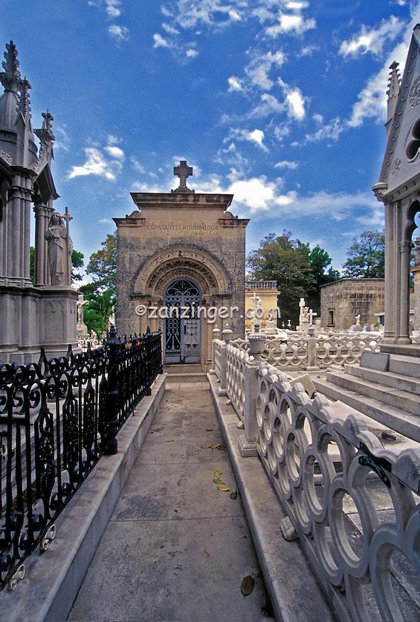 Mausoleums, chapels, and family vaults, Colon Cemetery, Cuba, Republic of Cuba, Vedado neighbourhood of Havana, Cuba