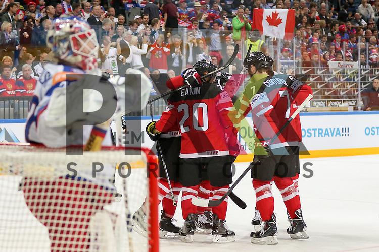 Tor Kanada, das Team Jubelt im Spiel IIHF WC15 Finale Russia vs. Canada.<br /> <br /> Foto &copy; P-I-X.org *** Foto ist honorarpflichtig! *** Auf Anfrage in hoeherer Qualitaet/Aufloesung. Belegexemplar erbeten. Veroeffentlichung ausschliesslich fuer journalistisch-publizistische Zwecke. For editorial use only.