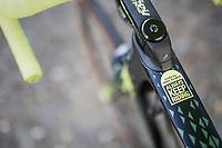 Top-tube advice for Mathew Haymen (AUS/Orica-Scott) <br /> <br /> 115th Paris-Roubaix 2017 (1.UWT)<br /> One Day Race: Compi&egrave;gne &rsaquo; Roubaix (257km)