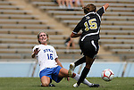 30 August 2009: Duke's Elisabeth Redmond (16) and Central Florida's Katie Jackson (15). The Duke University Blue Devils lost 3-2 to the University of Central Florida Knights at Fetzer Field in Chapel Hill, North Carolina in an NCAA Division I Women's college soccer game.