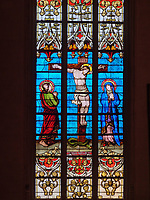 Fenster in der gotischen Kathedrale Notre Dame, Luxemburg-City, Luxemburg, Europa, UNESCO-Weltkulturerbe<br /> Windows in Gothic Cathedral Notre Dame , Luxembourg City, Europe, UNESCO Heritage Site