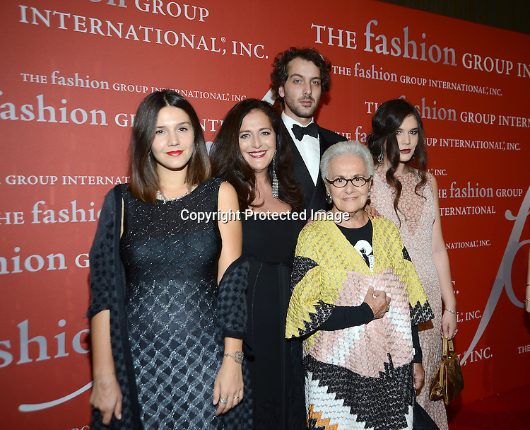 Rosita Missoni and family attend the Fashion Group International's Night of Stars Gala on October 22, 2013 at Cipriani Wall Street in New York City.
