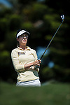 Sandra Gal of Germany tees off on the 2nd hole during the day one of the Sunrise LPGA Taiwan Championship at the Sunrise Golf Course on October 25, 2012 in Taoyuan, Taiwan. Photo by Victor Fraile / The Power of Sport Images
