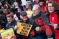 Ben Cohen and Jerry Greenfield, of Ben and Jerry's Ice Cream, joined actress and political activist Jane Fonda for a climate protest in front of the White House in Washington D.C., U.S., on Friday, November 8, 2019.  Activists marched from Capitol Hill to the White House to draw attention to the need to address climate change.  Credit: Stefani Reynolds / CNP /MediaPunch