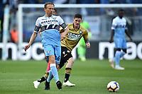Lucas Leiva of Lazio , Kevin Lasagna of Udinese <br /> Roma 17-4-2019 Stadio Olimpico Football Serie A 2018/2019 SS Lazio - Udinese <br /> Foto Andrea Staccioli / Insidefoto