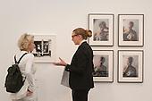 London, England. 15 October 2014. Stand of Richard Saltoun and Jo Spence.  Fine art fair Frieze Masters 2014 in Regent's Park, London. Photo: Bettina Strenske