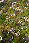 Aerial View of a Southeast Portland Neighborhood, Oregon