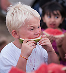 Independence Day celebration with the Jackson Lions Club on July 3, 2012..Water mellon eating contest