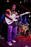 November 3, 2011 New York: Guitarist / Musician June Yamagishi of Papa Grows Funk performs Hiro Ballroom on November 3, 2011 in New York.
