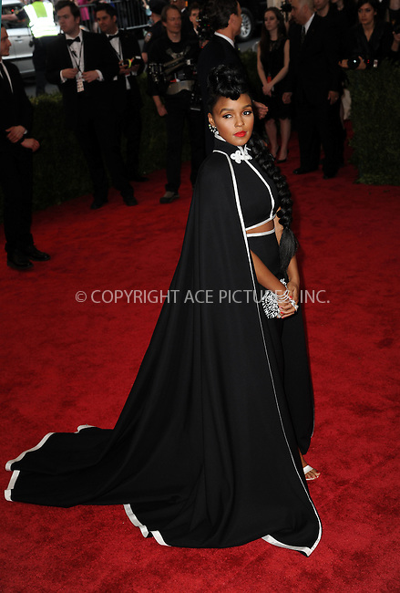 WWW.ACEPIXS.COM<br /> <br /> May 4 2015, New York City<br /> <br /> Janelle Monae arriving at the Costume Institute Benefit Gala celebrating the opening of China: Through the Looking Glass at the Metropolitan Museum of Art on May 4 2015 in New York City.<br /> <br /> <br /> Please byline: Kristin Callahan/ACE Pictures<br /> <br /> ACE Pictures, Inc.<br /> www.acepixs.com, Email: info@acepixs.com<br /> Tel: 646 769 0430