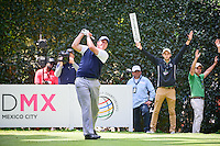 Phil Mickelson (USA) watches his tee shot on 5 during round 4 of the World Golf Championships, Mexico, Club De Golf Chapultepec, Mexico City, Mexico. 3/5/2017.<br /> Picture: Golffile | Ken Murray<br /> <br /> <br /> All photo usage must carry mandatory copyright credit (&copy; Golffile | Ken Murray)