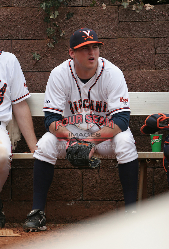 Alex Smith of the Virginia Cavaliers vs. the Miami Hurricanes:  March 24th, 2007 at Davenport Field in Charlottesville, VA.  Photo By Mike Janes/Four Seam Images