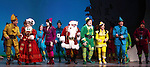 Beth Leavel, Wayne Knight, Jordan Gelber, Leslie Kritzer, Mark Jacoby, Jason Eric Testa & Companyduring the First Performance Curtain Call of the Broadway Holiday Hit Musical 'Elf'  at the Al Hirschfeld  Theatre in New York City on 11/09/2012