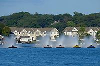 "Donny Allen, H-14 ""Legacy 1"", Kent Henderson, H-777 ""Steeler"", Dylan Runne, H-12 ""Pleasure Seeker"", Brandon Kennedy, H-300 ""Pennzoil"", Martin Rochon, H-773    (H350 Hydro) (5 Litre class hydroplane(s)"