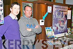 Kieran O'Flaherty and Alan O'Sullivan with their FloodEye detection system at Bank of Ireland on Wednesday.
