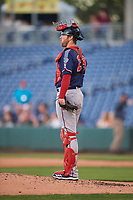 Jett Bandy (28) of the Nashville Sounds during the game against the Reno Aces at Greater Nevada Field on June 5, 2019 in Reno, Nevada. The Aces defeated the Sounds 3-2. (Stephen Smith/Four Seam Images)