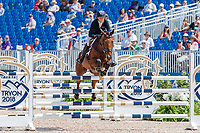 AUS-Emma McNab rides Fernhill Tabasco during the Showjumping for the FEI World Team and Individual Eventing Championship. 2018 FEI World Equestrian Games Tryon. Monday 17 September. Copyright Photo: Libby Law Photography