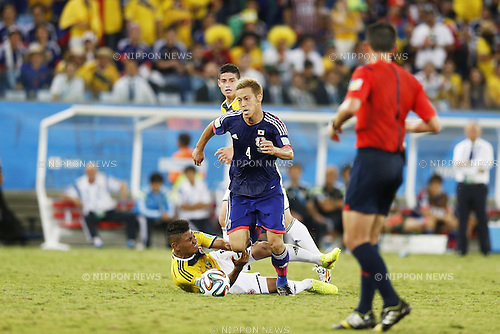 Keisuke Honda (JPN), JUNE 24, 2014 - Football / Soccer : FIFA World Cup Brazil 2014 Group C match between Japan 1-4 Colombia at the Arena Pantanal in Cuiaba, Brazil. (Photo by AFLO)