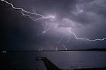 Lightning over Fishhook Lake, Minnesota
