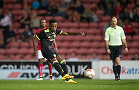 Mukhtar Ali of Chelsea scores his goal during the The Checkatrade Trophy match between Swindon Town and Chelsea U23 at the County Ground, Swindon, England on 13 September 2016. Photo by Andy Rowland.