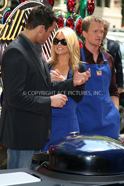 WWW.ACEPIXS.COM ** ** ** ....May 21 2008, New York City....Host Kelly Ripa of the Regis and Kelly Show did a sidewalk cooking segment on the Upper West Side with Actors Cameron Mathison (L) and Neil Patrick Harris....Please byline: Philip Vaughan -- ACEPIXS.COM.. *** ***  ..Ace Pictures, Inc:  ..tel: (646) 769 0430..e-mail: info@acepixs.com..web: http://www.acepixs.com