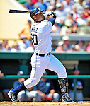 11 March 2009: Detroit Tigers' outfielder Wilkin Ramirez in action during a Spring Training game against the New York Yankees at Joker Marchant Stadium in Lakeland, Florida. The Tigers defeated the Yankees 7-4 in the Grapefruit League matchup. Mandatory Photo Credit: Ed Wolfstein Photo