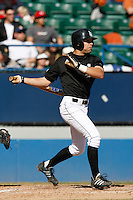 February 11 2007: Danny Espinosa of the Long Beach State 49'ers bats against the Texas Longhorns at Blair Field in Long Beach,CA.  Photo by Larry Goren/Four Seam Images