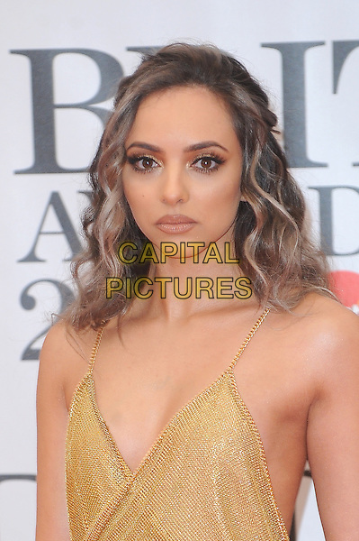 LONDON, ENGLAND - FEBRUARY 24: Jade Thirlwall of Little Mix attends the Brit Awards 2016 at The O2 Arena in London on February 24, 2016 in London, England.<br /> CAP/BEL<br /> &copy;Tom Belcher/Capital Pictures