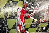 June 11th 2017, Barcelona Circuit, Montmelo, Catalunya, Spain; MotoGP Grand Prix of Catalunya, Race Day; Andrea Dovizioso of the Ducati Motogp Team celebrates his victory
