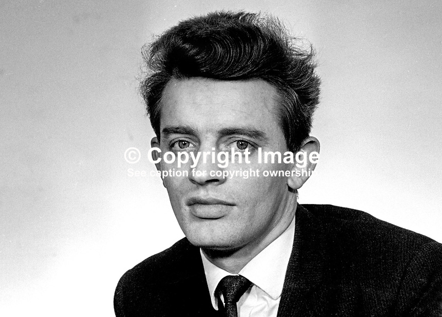 Austin Currie, MP, Nationalist Party, East Tyrone, N Ireland Parliament, March, 1969, 196903000131<br />