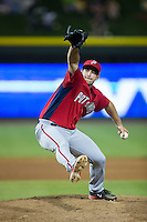Potomac Nationals relief pitcher Robert Orlan (26) in action against the Winston-Salem Dash at BB&T Ballpark on May 13, 2016 in Winston-Salem, North Carolina.  The Dash defeated the Nationals 5-4 in 11 innings.  (Brian Westerholt/Four Seam Images)