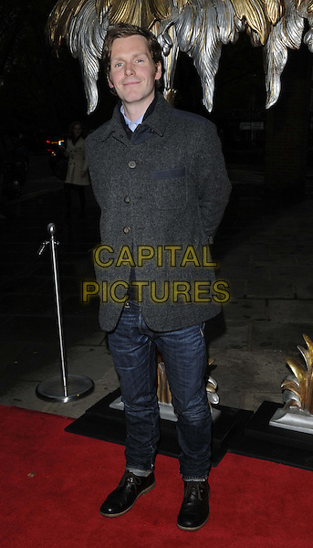 "Shaun Evans.The ""The Great Gatsby"" press night, Sadler's Wells Theatre, London, England..May 14th, 2013.full length jacket grey gray jeans denim.CAP/CAN.©Can Nguyen/Capital Pictures."