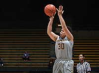 Mikayla Lyles of California shoots the ball during the game against Bakersfield at Haas Pavilion in Berkeley, California on December 15th, 2013.  California defeated Bakersfield Roadrunners, 70-51.