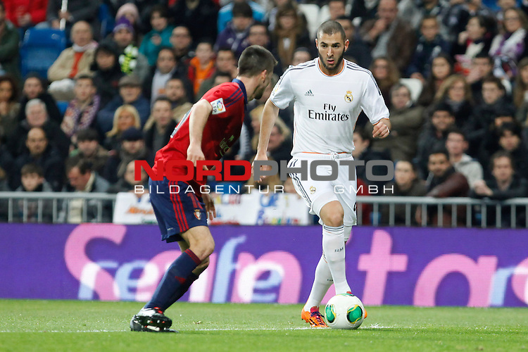 Real Madrid¬¥s Benzema (R) during King¬¥s Cup match in Santiago Bernabeu stadium in Madrid, Spain. January 09, 2014. Foto © nph / Victor Blanco)