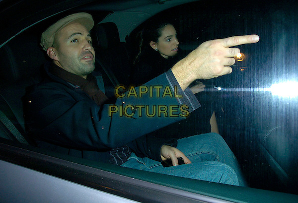 "BILLY ZANE & KELLY BROOK.At the press night for ""Six Dance Lessons In Six Weeks"", Theatre Royal, Haymarket, London, UK..November 29th 2006.half length car hat pointing couple.CAP/CAN.©Can Nguyen/Capital Pictures"