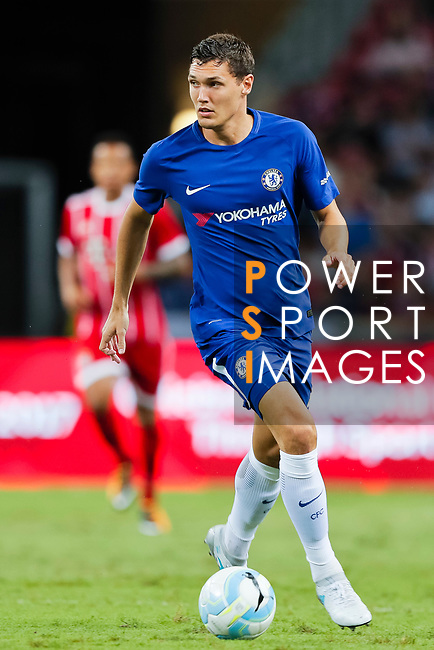 Chelsea Defender Andreas Christensen in action during the International Champions Cup match between Chelsea FC and FC Bayern Munich at National Stadium on July 25, 2017 in Singapore. Photo by Marcio Rodrigo Machado / Power Sport Images