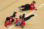 (L-R)<br /> Akiko Adachi,<br /> Rie Urata,<br /> Eiko Kakehata (JPN),<br /> SEPTEMBER 14, 2016 - Goalball : <br /> Quater-Final <br /> match between Japan - China<br /> at Future Arena<br /> during the Rio 2016 Paralympic Games in Rio de Janeiro, Brazil.<br /> (Photo by Shingo Ito/AFLO)