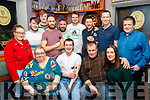 The Junction bar, Camp, dart team and supporters, who took on Bolands bar Castlegregory last Friday night in the annual Michael O'Donnell memorial dart competition in aid of Palliative Care unit, University Hospital Kerry.