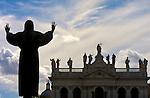St. Francis praying over the Basilica of St. John Lateran