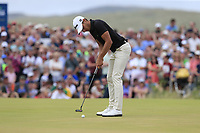 Joakim Lagergren (SWE) putts on the 18th green during Sunday's Final Round of the 2018 Dubai Duty Free Irish Open, held at Ballyliffin Golf Club, Ireland. 8th July 2018.<br /> Picture: Eoin Clarke | Golffile<br /> <br /> <br /> All photos usage must carry mandatory copyright credit (&copy; Golffile | Eoin Clarke)
