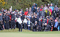 Friday 29th May 2015; Rory McIlroy plays his approach shot to the 15th green<br /> <br /> Dubai Duty Free Irish Open Golf Championship 2015, Round 2 County Down Golf Club, Co. Down. Picture credit: John Dickson / SPORTSFILE
