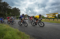 Jensen Plowright (Australia/Team BridgeLane) wears the yellow jersey during stage three of the NZ Cycle Classic UCI Oceania Tour (Martinborough circuit) in Wairarapa, New Zealand on Friday, 17 January 2020. Photo: Dave Lintott / lintottphoto.co.nz