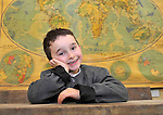 """Pupil Luke O""""Sullivan from Killarney dressed in period costume pictured enjoying Lissivigeen School's 150 years celebration on Thursday. All the pupils attended class in period costume in one of Kerry's oldest schools about three miles from Killarney..Picture by Don MacMonagle"""