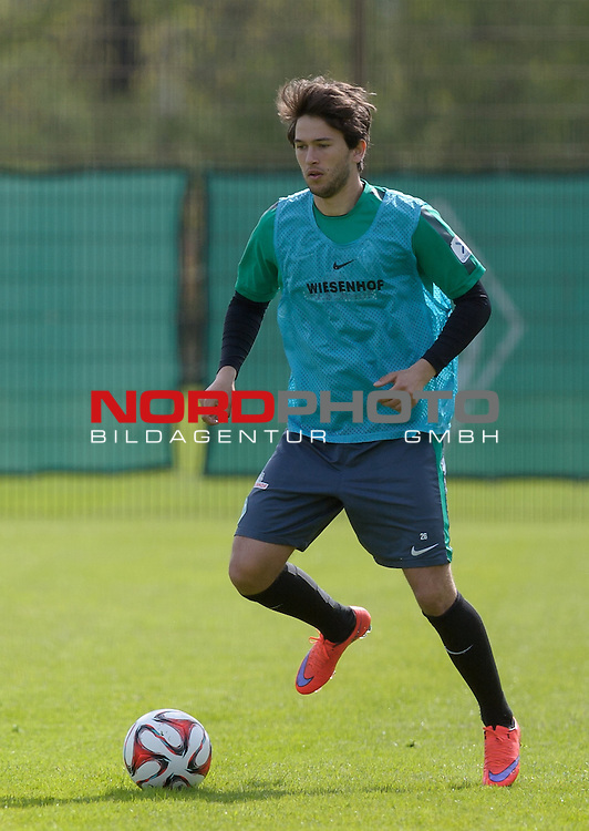 29.04.2015, Trainingsgelaende, Bremen, GER, 1.FBL, Training Werder Bremen, im Bild Julian von Haacke (Bremen #26)<br /> <br /> Foto &copy; nordphoto / Frisch