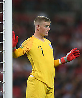 England's Jordan Pickford<br /> <br /> Photographer Rob Newell/CameraSport<br /> <br /> UEFA Nations League - League A - Group 4 - England v Spain - Saturday September 8th 2018 - Wembley Stadium - London<br /> <br /> World Copyright &copy; 2018 CameraSport. All rights reserved. 43 Linden Ave. Countesthorpe. Leicester. England. LE8 5PG - Tel: +44 (0) 116 277 4147 - admin@camerasport.com - www.camerasport.com