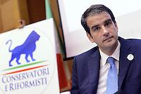 Roma, 16 Luglio 2015<br /> Raffaele Fitto presenta il simbolo del nuovo partito, Conservatori e riformisti.