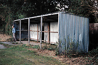Covered area at East Ruston FC Football Ground, School Lane, East Ruston, Norfolk, pictured on 31st August 1995