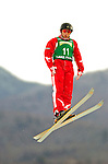 16 January 2005 - Lake Placid, New York, USA - Lanie Cole representing Australia, competes in the FIS World Cup Ladies' Aerial acrobatic competition, ranking 25th for the day, at the MacKenzie-Intervale Ski Jumping Complex, in Lake Placid, NY. ..Mandatory Credit: Ed Wolfstein Photo.